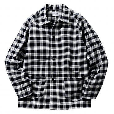 8HU INDIGO FLANNEL CHECK JACKET