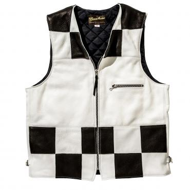 BUCO DEERSKIN RACING VEST / CHECKER